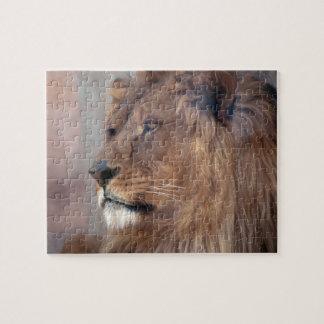 Puzzle Grand beau lion fâché