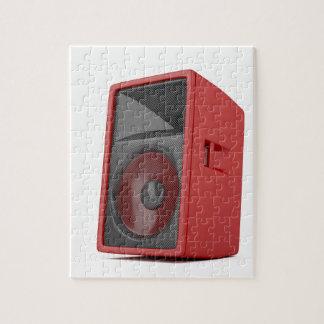 Puzzle Grand haut-parleur rouge