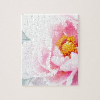 Puzzle Haute fleur rose principale de pivoine