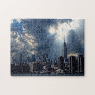 Puzzle Horizon de Manhattan avec des nuages de tempête