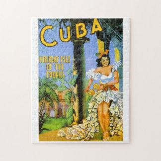 Puzzle Île de vacances du Cuba de l'affiche de voyage de