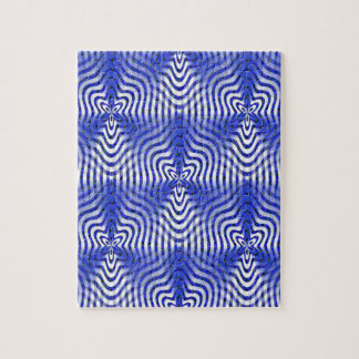Puzzle Illusions dans le bleu….