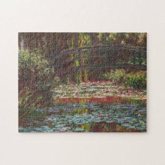 Puzzle ~ japonais Claude Monet de pont et de nénuphars