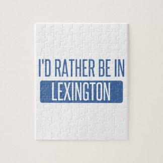 Puzzle Je serais plutôt à Lexington