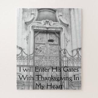 Puzzle J'écrirai ses portes avec le thanksgiving