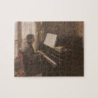 Puzzle Jeune homme jouant le piano par Gustave