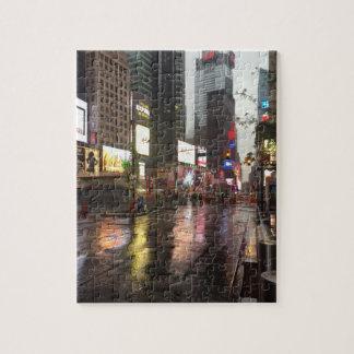Puzzle Jour pluvieux en photo du Times Square NYC New