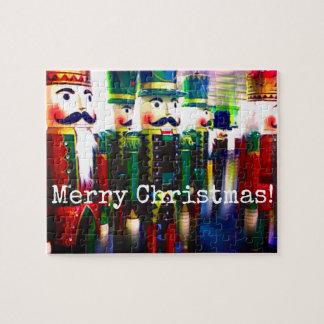 Puzzle Joyeux Noël de soldats colorés de casse-noix