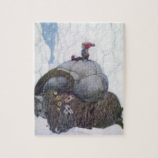 Puzzle Jullbocken la chèvre de Noël monté par un enfant