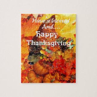 Puzzle Klaxon de thanksgiving d'abondance