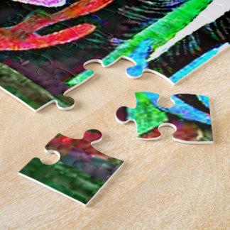 Puzzle Klee - paysage avec les oiseaux jaunes