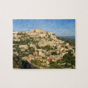 Puzzle La ville provinciale de colline miroite dans la