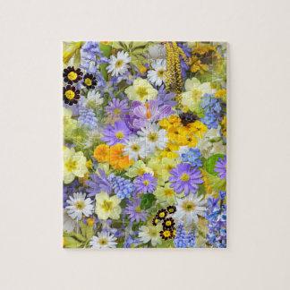 Puzzle Le beau pré de ressort fleurit la casse-tête