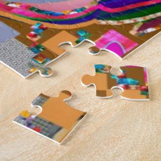 Puzzle Le blanc de modèle ajoutent votre propre JPG JEPG