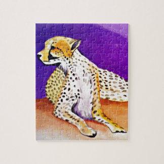 Puzzle Le guépard majestueux (art de Kimberly Turnbull)