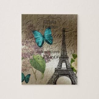 Puzzle le lilas scripts Tour Eiffel vintage moderne de