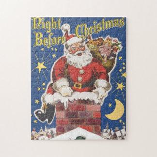 Puzzle Le père noël vintage, nuit de Twas avant Noël