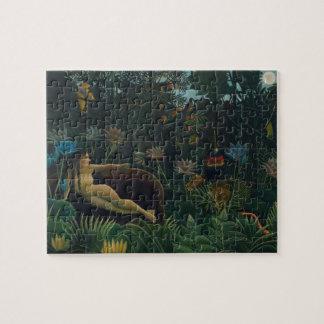 Puzzle Le rêve par Henri Rousseau, impressionisme vintage