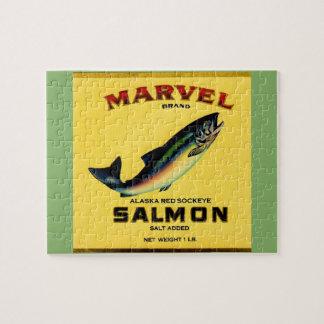 Puzzle le saumon de merveille des années 1930 peut