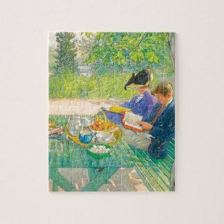 Puzzle Lecture de vacances par Carl Larsson