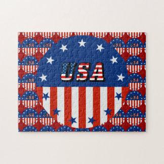 Puzzle LES Etats-Unis - Drapeau américain et étoiles en