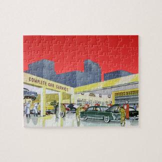 Puzzle Les mécaniciens automobiles vintages accomplissent