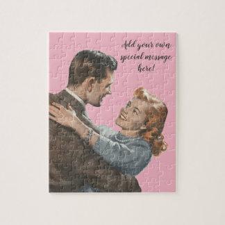 Puzzle Les nouveaux mariés Romance d'amour vintage nous