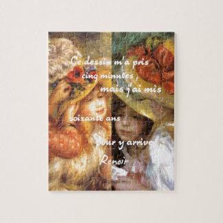 Puzzle Les peintures de Renoir est abondance de l'amour
