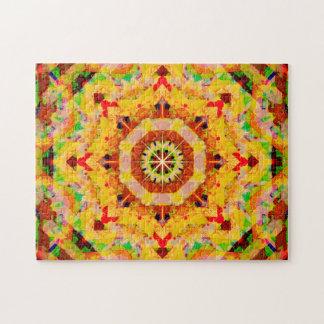 Puzzle L'étoile multicolore forme le mandala