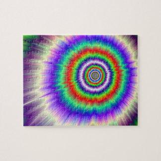 Puzzle L'explosion de couleur teignent en nouant le