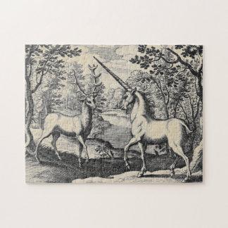 Puzzle Licorne dans la forêt