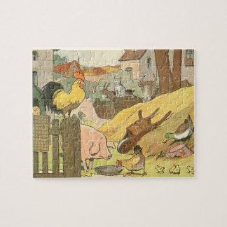 Puzzle Livre d'histoire d'animaux de ferme illustré