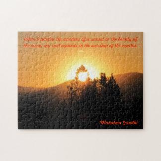 Puzzle Ma semelle augmente - la citation de Gandhi