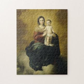 Puzzle Madonna et enfant, casse-tête de beaux-arts