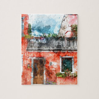 Puzzle Maisons colorées en île Venise Italie de Burano