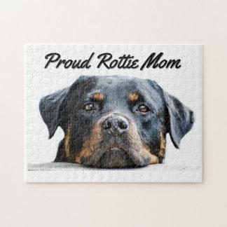 Puzzle Maman fière mignonne de la race | Rottie de chien