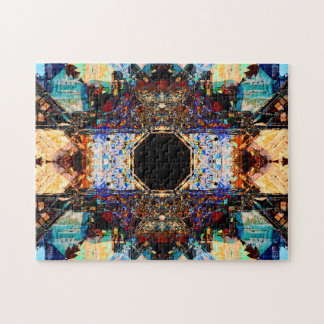 Puzzle Mandala abstrait de relaxation des fractales |