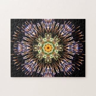 Puzzle Mandala de feux d'artifice