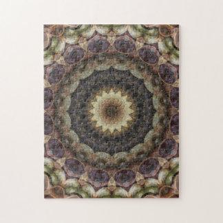 Puzzle Mandala en pastel complexe de coquillages