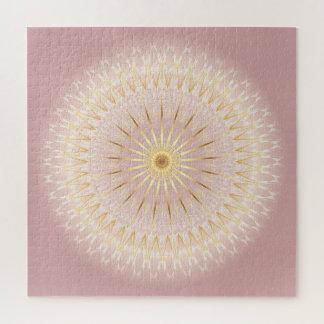 Puzzle Mandala rose d'or
