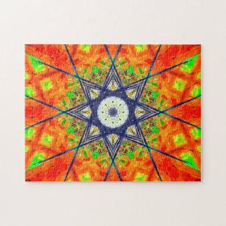 Puzzle Mandala vibrant d'étoile