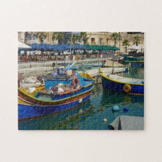 Puzzle Marsaxlokk a peint des bateaux