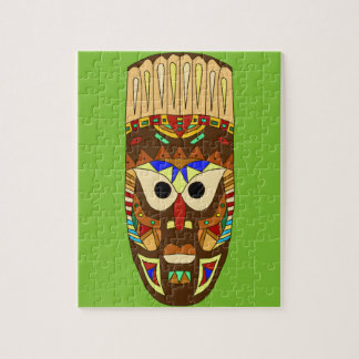 Puzzle masque africain traditionnel