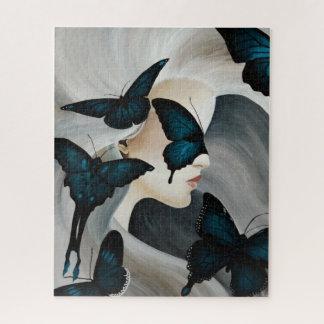 Puzzle Masque bleu de papillon
