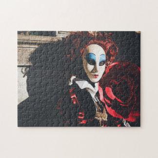 Puzzle Masque rouge de carnaval à Venise, Italie
