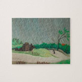 Puzzle Matin pluvieux Henri Rousseau, beaux-arts vintages