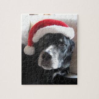 Puzzle Mélange de rottweiler de Père Noël Chien-Labrador