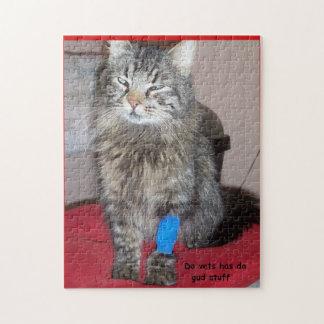 Puzzle Meme médicamenté drôle de chat ou votre image