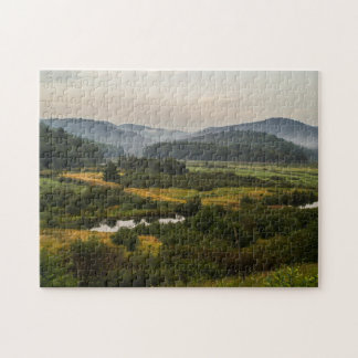 Puzzle Montagnes d'Adirondack - brumeuses - terre de