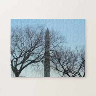 Puzzle Monument de Washington en hiver je voyage